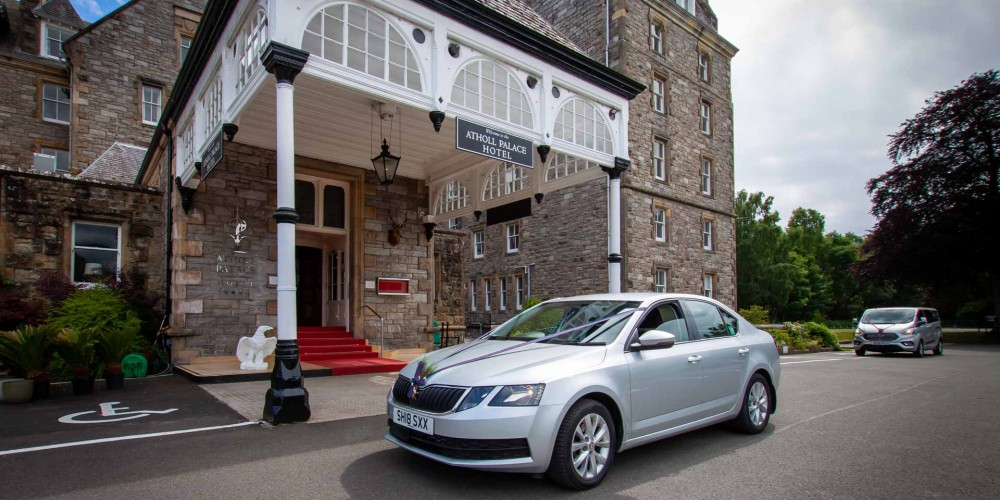 Pitlochry Taxi outside Atholl Palace hotel